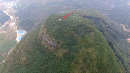 近千米高的山顶,拍到形迹可疑的2个人,你猜他们要在这里干啥?