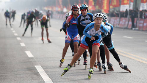 轮滑也有马拉松,2000运动员渭南2019国际轮滑马拉松赛同场竞技