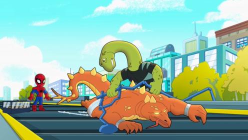 蜥蜴博士抢了宝物就要逃跑,完全不把蜘蛛侠放在眼里,这么自信真的好吗?