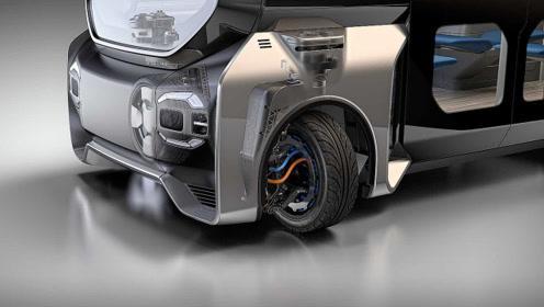 颠覆传统!这车轮设计独特,能让汽车斜着横着跑