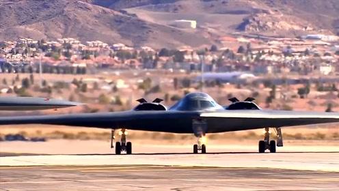 实拍美国超牛轰炸机起飞过程,感受不一样的震撼!