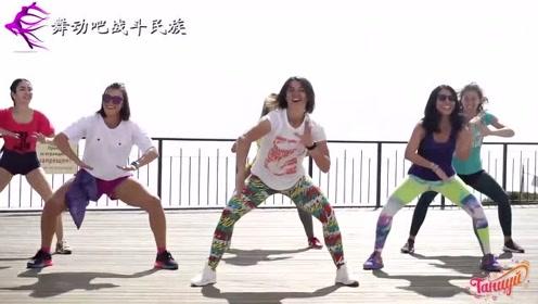 """战斗民族姑娘都长得""""人高马大""""?看她们练""""尊巴舞""""就懂了"""