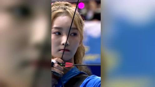 高颖浠三箭29环技惊四座,战胜杨超越夺得金牌!