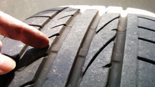 2017年的车子轮胎胎面为什么一块块掉下来?