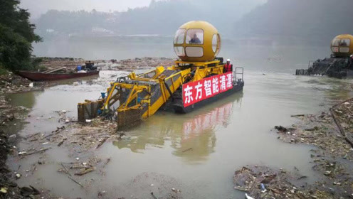 可识别并打捞漂浮物 清污神器亮相四川装备博览会