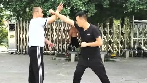通背拳实战应用教学,高手对练演示,简单易懂好学