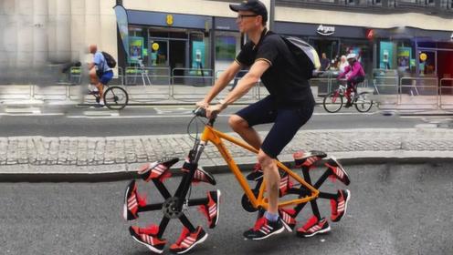 3辆奇葩自行车,第2个有钱都骑不了,最后一个普通人不敢骑!