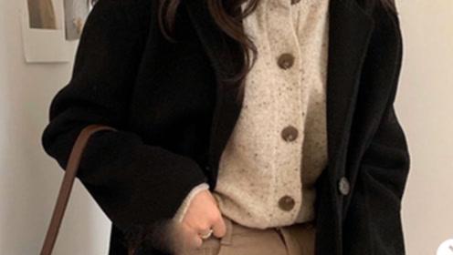 秋冬外套穿搭,适合小个子的韩系穿搭,满满高级感你值得拥有