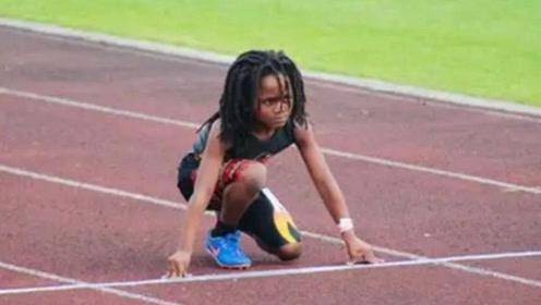 美国跑得最快的小孩,仅7岁就突破记录,表示有信心超越博尔特!