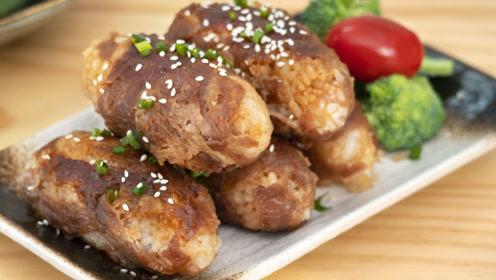 肥牛谁还涮火锅,包着米饭香到哭,鲜香多汁还不腻,做法超简单