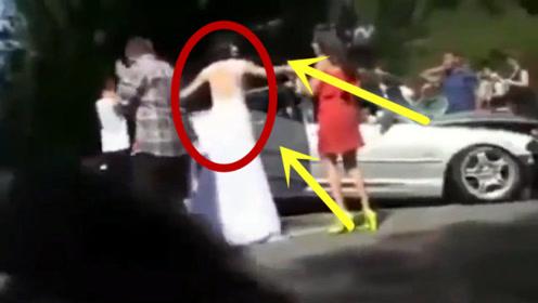 婚礼变葬礼,大货车撞烂婚礼车队,现场哭声一片!