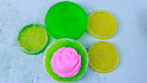手工皂DIY,好看的玫瑰香皂还有四叶草,做法简单又实用
