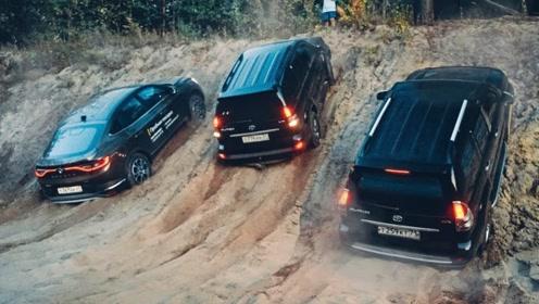 遇到一个陡坡后,才知道SUV和越野车的差别有多大?