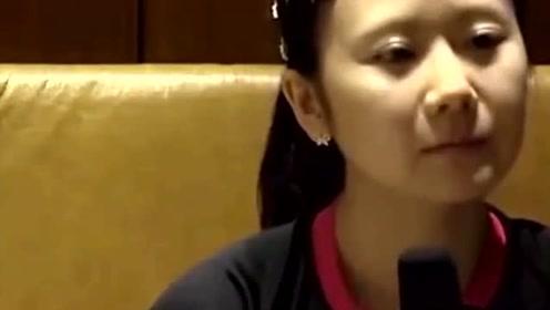 福原爱在接受采访时,一脸懵圈,教练爆笑解围:你要带点东北口音!