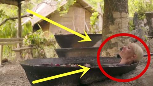 奇葩泡澡!铁锅炖自己,人躺进热铁锅里,就不怕烫屁股吗?