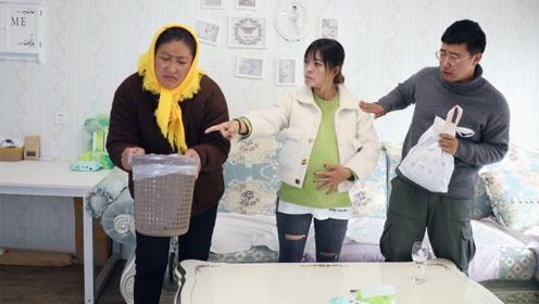 儿媳怀孕,婆婆来帮忙,收拾卫生看到垃圾桶衣服,婆婆离开