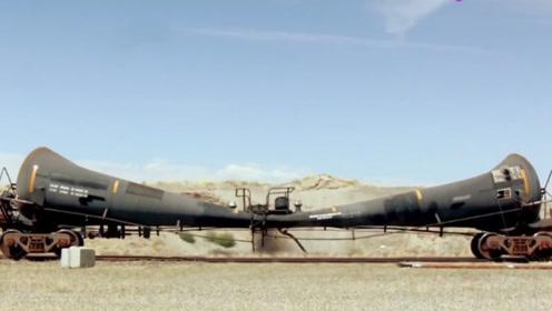 油罐车被瞬间压扁会发生什么?老外现场实拍,场面太震撼了