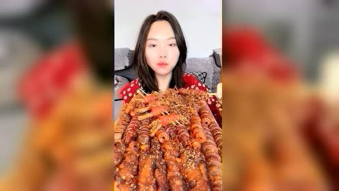 美食吃播:培根金针菇卷