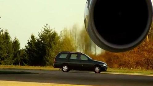 飞机发动机的推力有多猛?看到这辆汽车的下场,你就知道了
