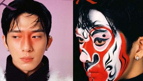 井柏然生肖脸谱妆,呈现传统文化与现代时尚的化学反应!