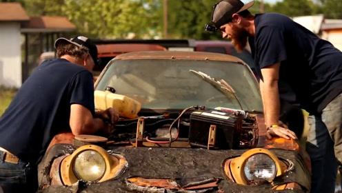 小伙收购了一台1972年的欧宝,一番修复后,音浪劲爆