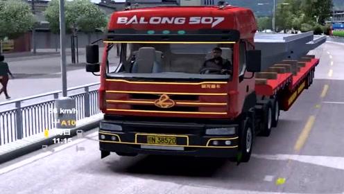 模拟驾驶:开着卡车去送货,场景太逼真了,考个A本不容易