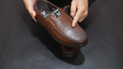 买皮鞋要注意,教你简单方法,一眼就能分辨真皮鞋,太实用了