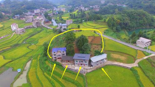 小山包占据农田面积,为啥不铲除掉,反而围绕它建房呢