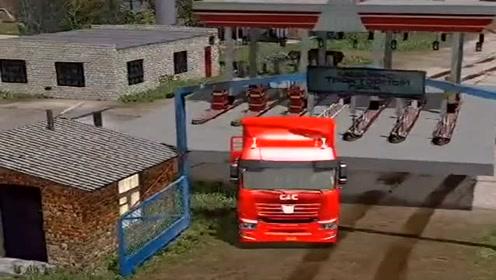 模拟驾驶:大货车过收费站,太逼真,货车司机不容易!