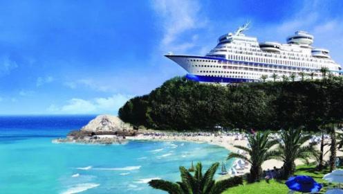 山顶矗立着2万吨巨轮,建成至今从没下过海,上去的游客源源不断