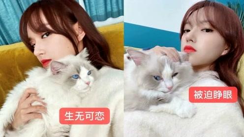 """程潇自拍甜美似芭比娃娃 调侃爱猫""""被迫营业"""""""