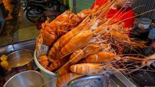 越南的路边大龙虾,一直只要50元,网友:这价格在哪里买