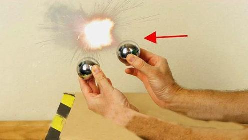 冲击波究竟长什么样?老外让两颗钢球相撞,带你亲自用肉眼观察