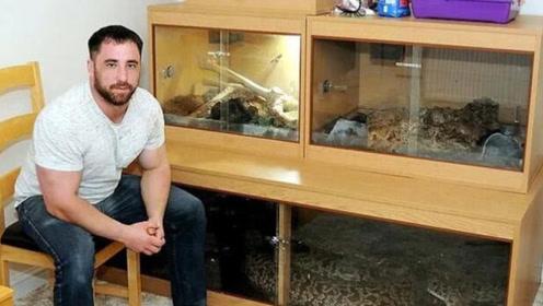 男子8年前买小蛇当宠物如今长到5.5米 成世界最大缅甸蟒