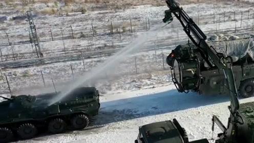 俄军UTM-80M洗消设备