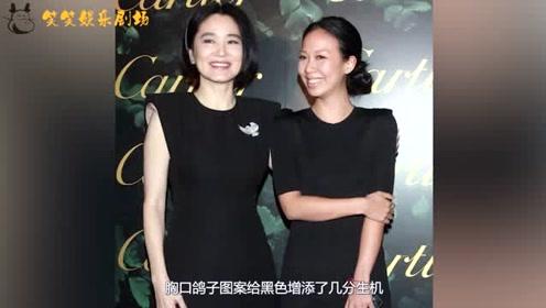 65岁林青霞与女儿同框,两人同穿黑色连衣裙,女儿颜值气质差远了