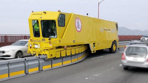 9米长的车开在路中间,变魔术吗?立刻解决交通堵塞