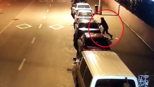 神速!沈阳松山西路40多辆车被砸 警方7小时抓获嫌疑人