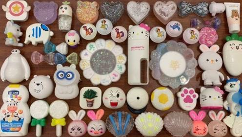 创意史莱姆教程,珍珠+太阳花黏土+凯蒂猫米粒泥+口红,好玩又解压!