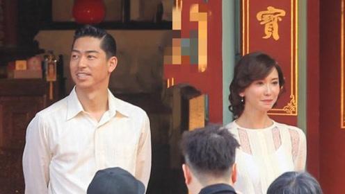 林志玲一袭白纱现身 手挽老公AKIRA进行婚礼彩排