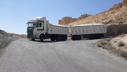 厉害了,货车加拖挂,一次拉两节车厢,下坡时能刹住车吗?
