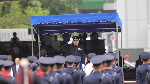 """港警""""一哥""""退休前主持警队结业礼:以带领世界一流警队为傲"""