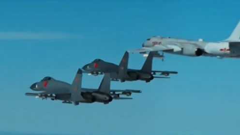空军首次公布国际空域排除外机干扰影音 霸气喊话欲犯之敌