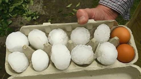 """""""冰蛋""""侵城!新西兰南岛遭冰雹袭击 冰块大小似鸡蛋"""