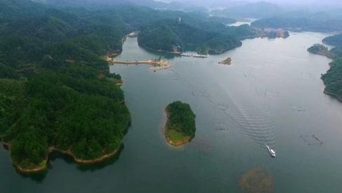 仙岛湖一日游,湖中风景美如画,宛如诗中描绘的一样