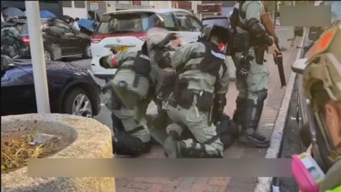 """香港警方拘捕理大外逃暴徒  含多名""""假记者""""""""假医护"""""""