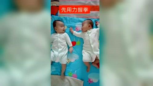 生龙凤胎一定要让女儿当姐姐,眼前这一幕,看完别笑!