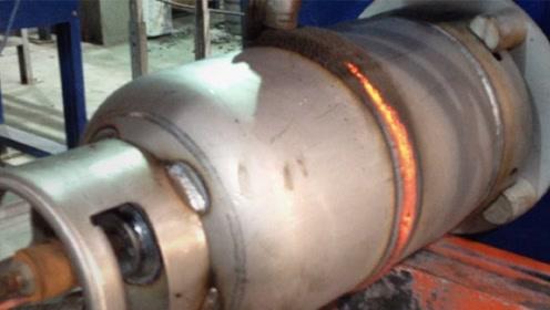 煤气罐是如何制作的?看了工厂的制作过程,总算对它的安全放心了