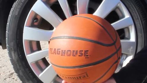 球能扛得住轮胎的碾压完好无损吗?外国牛人亲测,结果惨不忍睹