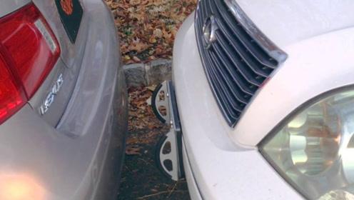 老外发明停车保护架,装在牌照架上,新手停车再不怕剐蹭